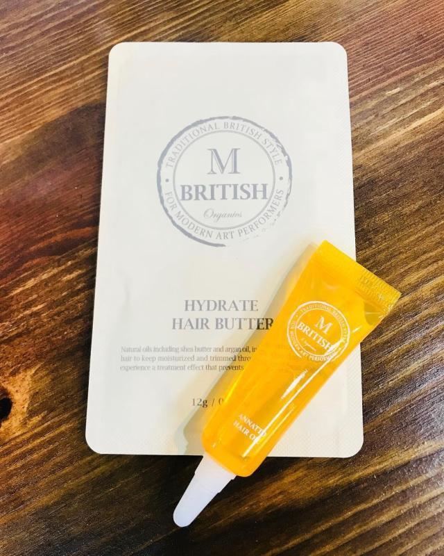 Dầu dưỡng tóc cao cấp BRITISH M Annatto Hair Oil phục hồi tóc hư tổn 7ml nhập khẩu