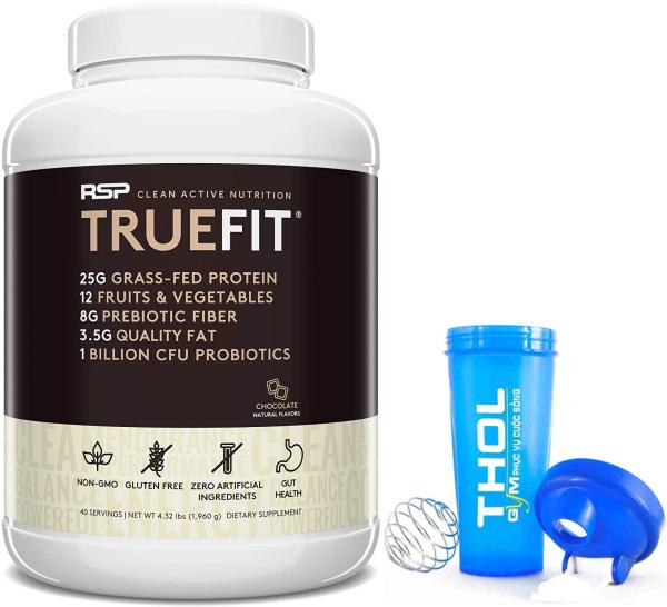 Bữa ăn thay thế - RSP True Fit - Nguồn protein chất lượng cao từ bò ăn cỏ - tăng cơ giảm mỡ - tặng kèm bình lắc 700ml cao cấp sữa ăn cỏ cao cấp