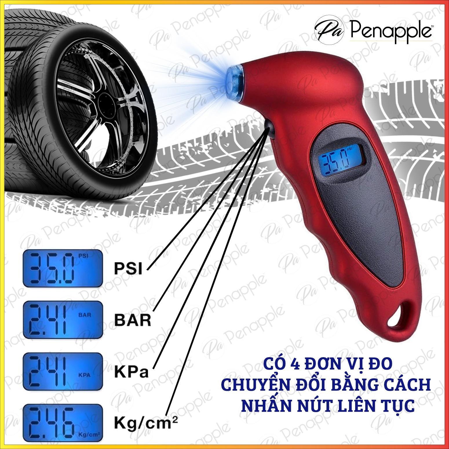 Đồng hồ đo áp suất lốp có màn hình led hiển thị - Hàng cao cấp
