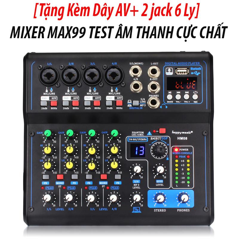 [ XẢ KHO ]Bộ Mixer Yamaha Max99 - Usb Kết Hợp Vang Số- Bluetooth, Mixer Yamaha Max99, Livestream 16 Chế Độ Vang Số Âm Thanh Chuyên Nghiệp, Kết Hợp Cho Tất Cả Loa Kéo, Mixer Karaoke Yamaha Max99, Màn Hình Đèn Led, BH 12T