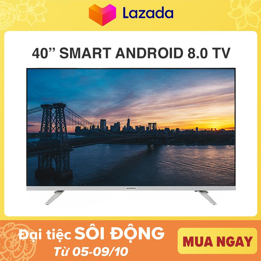 Bảng giá Android TV Full HD Skyworth 40 inch tivi - Tràn viền - Model 40E6 (Bạc) - Chân viền kim loại NEW 100%