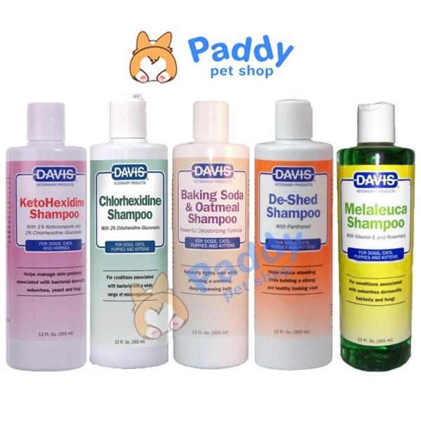 Sữa Tắm Davis Viêm Da & Nhiễm Khuẩn Cho Chó Mèo (355ml)
