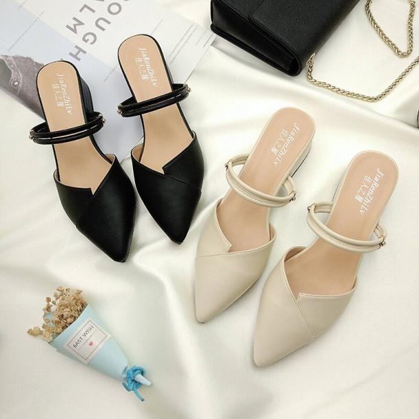 Sục nữ , giày nữ 2p da mềm siêu xinh ( Sục 2 quai ) giá rẻ