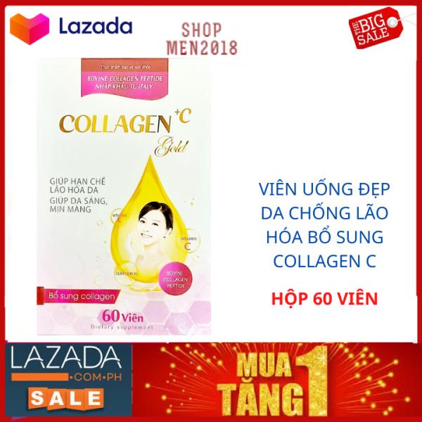 Trắng da toàn thân Collagen + C  Gold giúp da trắng khỏe đẹp giữ nét thanh xuân HSD 2023