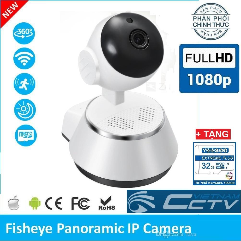 (TẶNG THẺ NHỚ CHUẨN YOOSEE 32GBBảo Hành 24 tháng) Camera Ip Wifi V380 Plus , camera xoay 360 độ , camera 2.0 mpx FullHD 1920 x 1080p ghi âm ghi hình đàm thoại 2 chiều , hỗ trợ quan sát ngày đêm