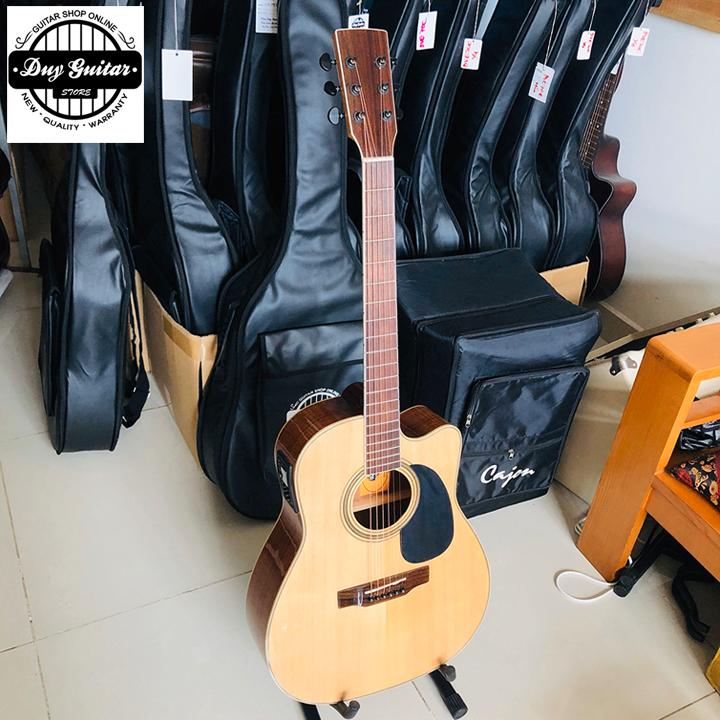 Đàn guitar Acoustic guitar DJ260X có EQ MET B12 - Cây đàn ghita có thiết kế full solid Cho âm thanh ra loa tốt chất lượng
