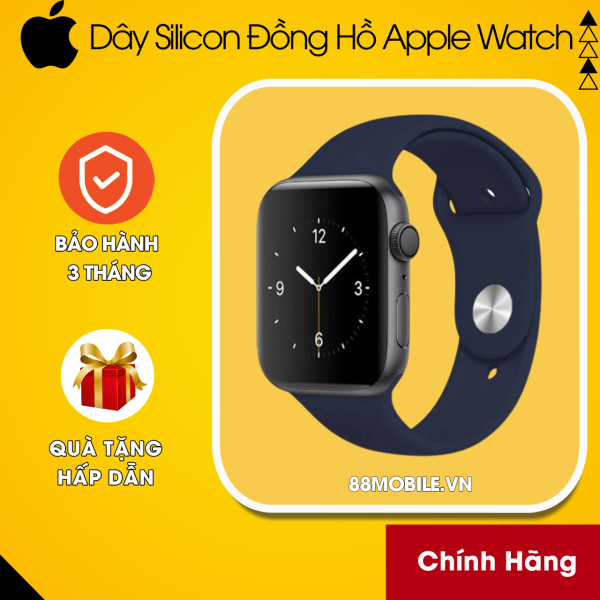 Dây Cao Su Apple Watch Silicon Cao Cấp Rất Nhiều Màu Sắc Đủ Size 38mm/40mm/42mm/44mm 88Mobile