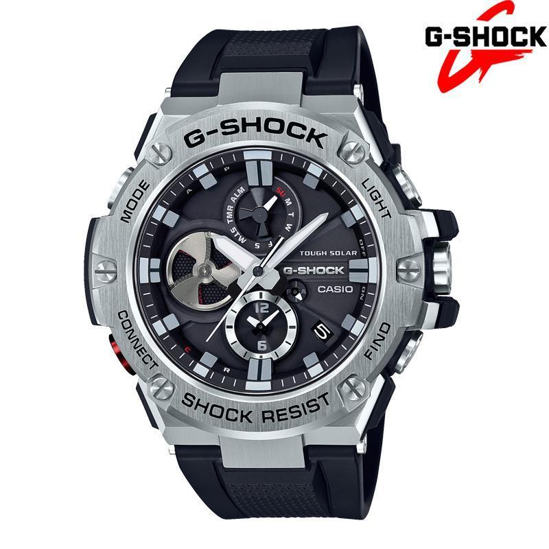 Đồng hồ nam dây cao su G-SHOCK GST-B100-1A BLUETOOTH, Năng Lượng Mặt Trời