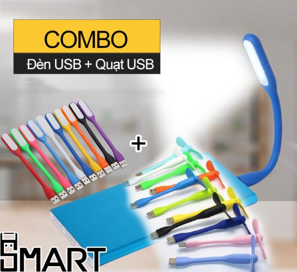 Bảng giá Đèn USB + Quạt USB mini có thể sử dụng bằng Laptop, sạc dự phòng, sạc điện thoại bảo hành 1 đổi 1-  DQ Phong Vũ