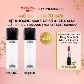 [ƯU ĐÃI ĐẶT TRƯỚC 25.8-8.9] MAC - Mua 1 tặng 1 Nước xịt khoáng hoàn tất trang điểm MAC Prep + Prime Face Fix + 100ml ( Giá thực 1,470,000vnd) thumbnail