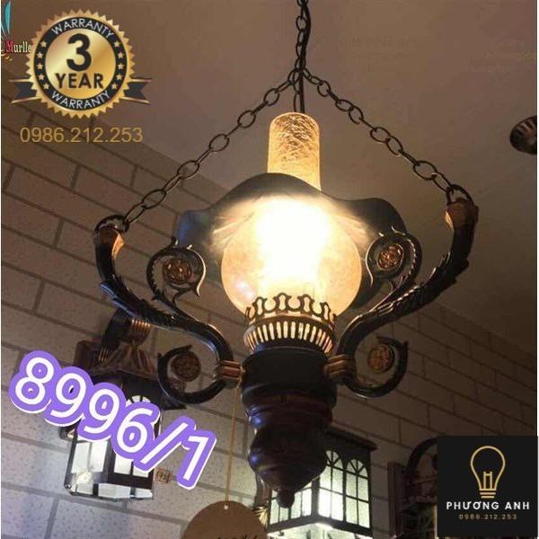 Bảng giá Đèn thả hình đèn dầu trang trí nội thất phòng thờ cổ điển, sang trọng mã 8996/1- Đèn Phương Anh