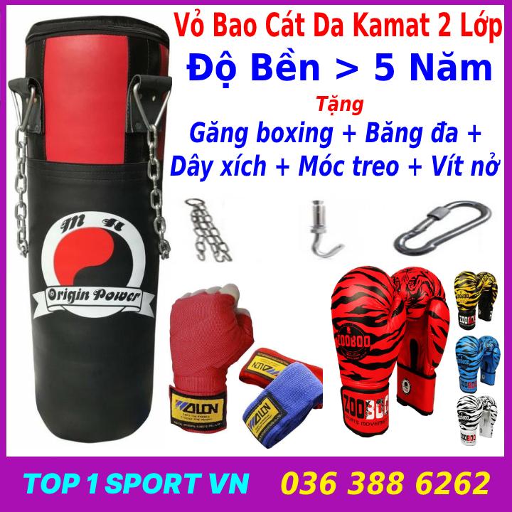 Combo Vỏ Bao Cát + Găng Tay Boxing Zooboo Chỉ 389K - Thiết bị võ thuật chuyên nghiệp bảo hành 6 tháng dành cho phòng tập