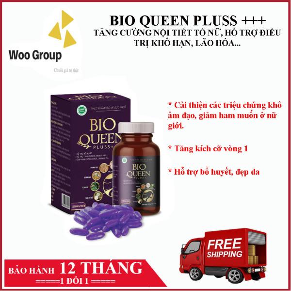 BIOQUEEN Pluss - Tăng cường nội tiết tố nữ, hỗ trợ điều trị khô hạn, lão hóa, tăng kích thước vòng 1, mầm đậu nành, sâm tố nữ, vitamin e- WOOGROUP nhập khẩu