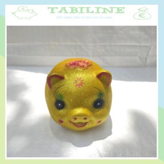 Lợn đất tiết kiệm đựng tiền size NHỎ 2 VIP KIM TUYẾN VÀNG cute mini đẹp giá rẻ TABILINE LD19 thumbnail