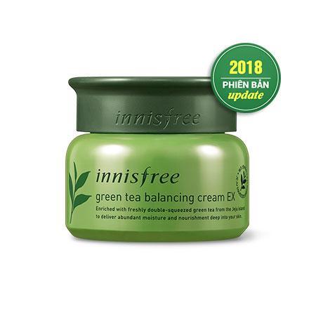 Kem Dưỡng Da Innisfree Green Tea Balancing Cream EX 50ml nhập khẩu