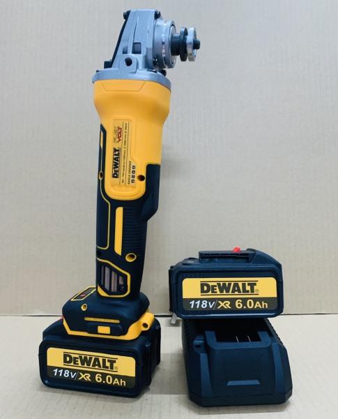 [ Không Chổi Than ] Máy mài cầm tay Dewalt 118V - Máy cắt cầm tay motor 775 - Máy mài góc - Máy cắt sắt dùng pin 10 cell
