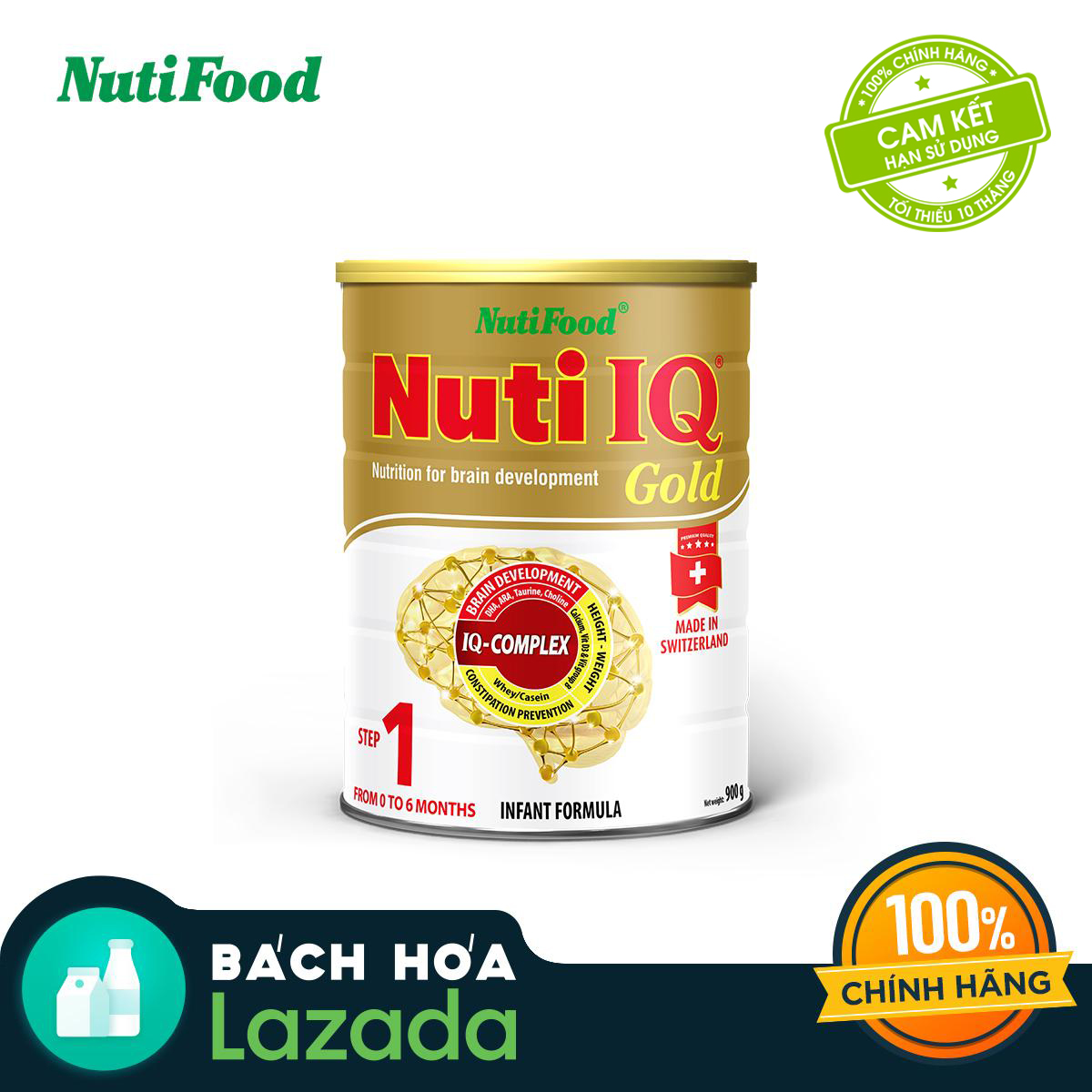 Sữa bột Nuti IQ Gold Step 1 - lon 900g (Nhập khẩu)