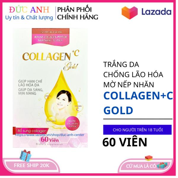 Viên uống Collagen trắng da giúp da khỏe đẹp căng bóng chống lão hóa hộp 60 viên giá rẻ