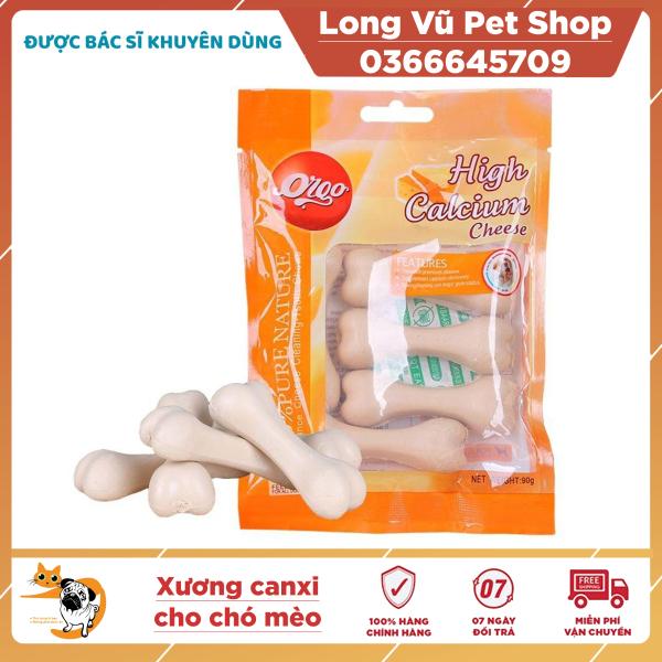 Đồ ăn vặt xương canxi ORGO cho chó mèo 90gr