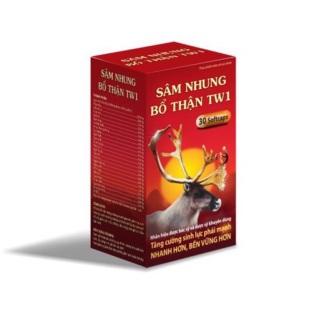 Combo 3 hộp Viên uống sâm nhung bổ thận TW1 - Giúp bổ thận , tráng dương , tăng cường sinh lý cho nam giới - lọ 30 viên. thumbnail