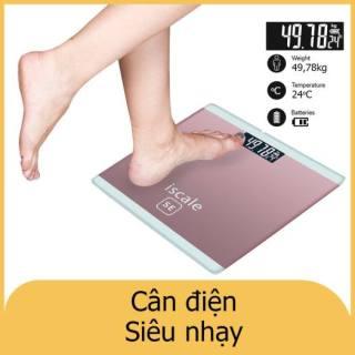 Cân Điện Tử ISCALE Hình Iphon-Cân Theo Dõi Sức Khỏe- Tải trọng tối đa 180kg- Chất liệu kính cường lực + nhựa + kim loại Tải trọng cao thumbnail