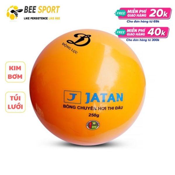 Bóng chuyền hơi Jatan 200g và 250g chính hãng Động Lực - Kem kim bơm và lưới đựng bóng