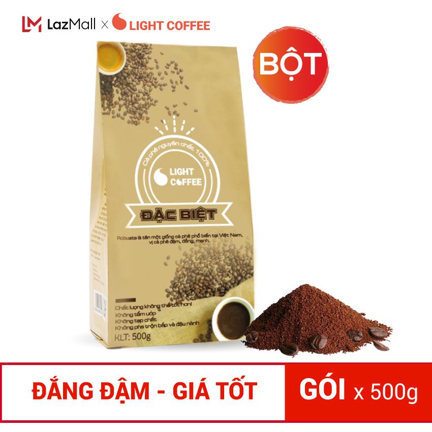 [SẢN XUẤT 10/2021] Cà phê bột Đặc biệt, Cà phê Hạt loại Đặc biệt 100% nguyên chất Light Coffee , vị đậm , đắng , mạnh , không tẩm ướp hương liệu - Gói 500g
