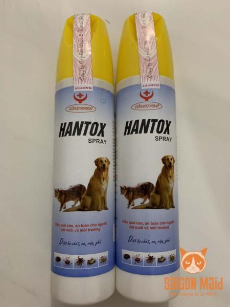 Chai xịt Hantox Spray diệt bọ chét ve chấy rận ghẻ chó mèo( 300ml )