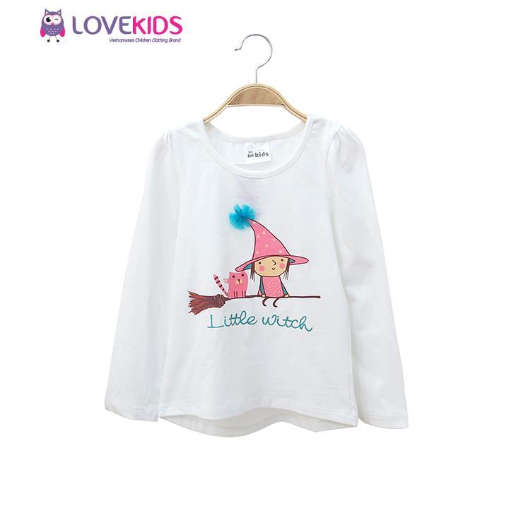 Giá bán Áo thun dài tay bé gái Little Witch - Lovekids