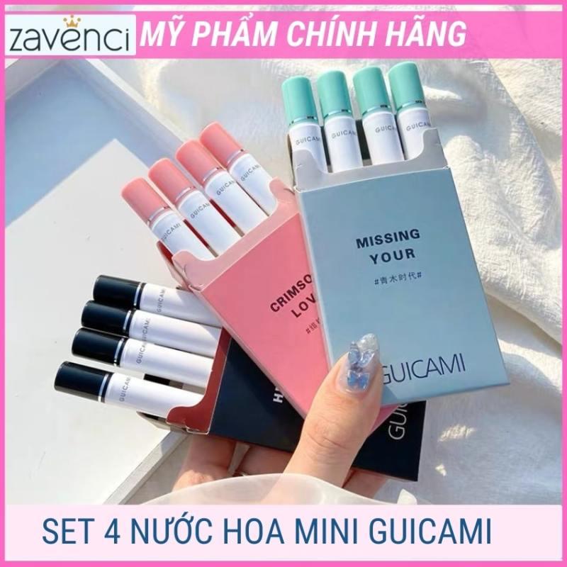 Set nước hoa mini nữ thơm lâu dạng xịt mùi hương thanh lịch trẻ trung quyến rũ nữ tính tiện lợi (4 thanh 5ml) nhập khẩu