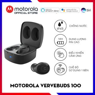 Tai nghe bluetooth không dây TWS - Motorola - VerveBuds100- Chuẩn chống nước IPX5-Thời gian chơi nhạc lên đên 14h thumbnail