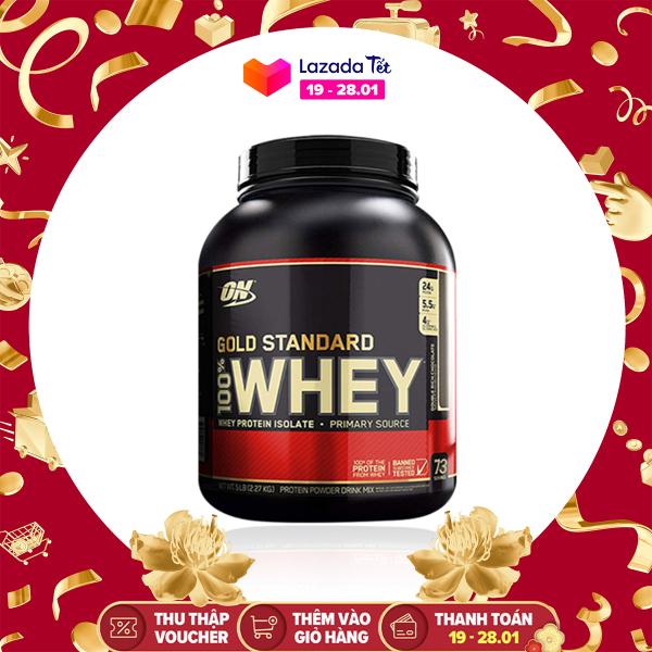 WHEY PROTEIN - OPTIMUM NUTRITION - GOLD STANDARD 100% WHEY - 5lbs - Bổ sung protein tăng cơ giảm mỡ - Từ Mỹ cao cấp