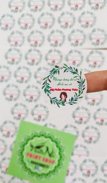 Mua Combo 100 nhãn dán sticker thiết kế miễn phí theo yêu cầu, đủ kích thước
