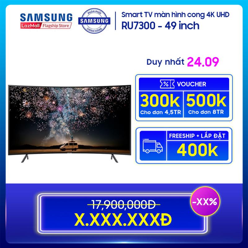 Smart TV Samsung màn hình cong 4K UHD 49 inch RU7300 chính hãng