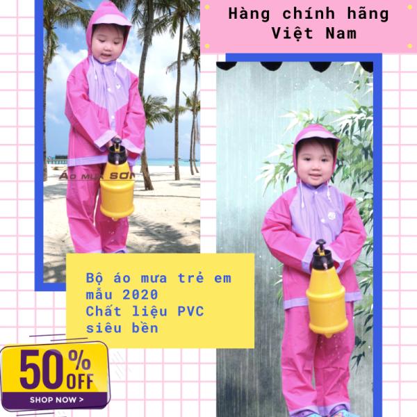 Bộ áo mưa trẻ em cao cấp - Aó mưa trẻ em chính hãng Sơn Thủy - Chất liệu nhựa cao tầng không mùi, không độc hại tới trẻ -  Bảo vệ trẻ em dưới mọi cơn mưa -Bảo hành uy tín 1 đổi 1