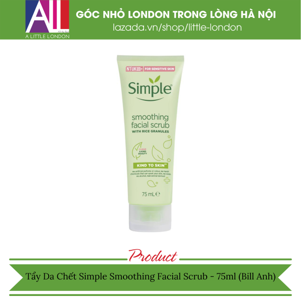 Tẩy da chết Simple Kind To Skind Smoothing Facial Scrub 75ml (Bill Anh)