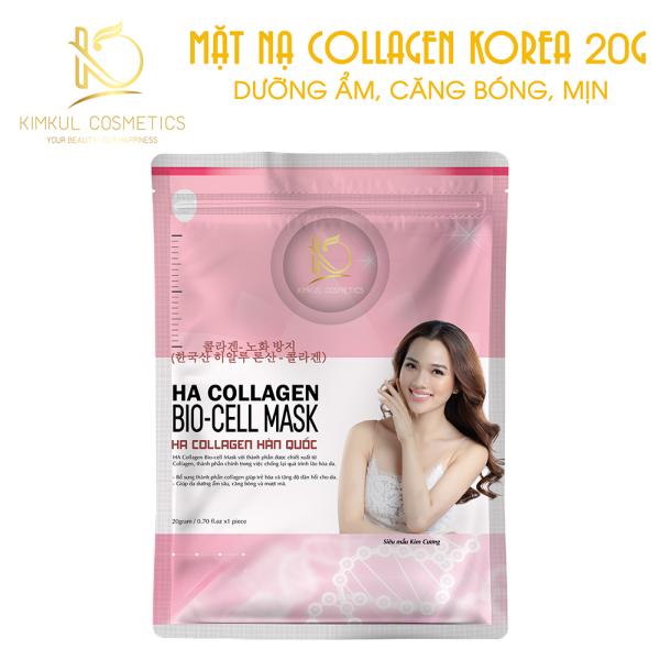 Mặt nạ Collagen Hàn Quốc KimKul HA Collagen Bio-Cell Mask - Mặt nạ Collagen chống lão hóa chuẩn Hàn Quốc dưỡng trắng, ngừa lão hóa nhập khẩu
