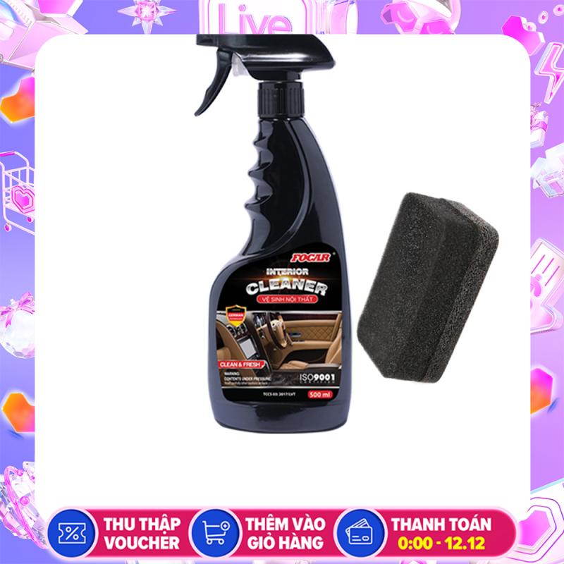 [SALE Rực Rỡ] Chai xịt vệ sinh nội thất ô tô FOCAR -TẶNG Miếng Mút Vệ Sinh FOCAR Cleaning Sponge Vệ sinh xe hơi, vệ sinh nội thất xe