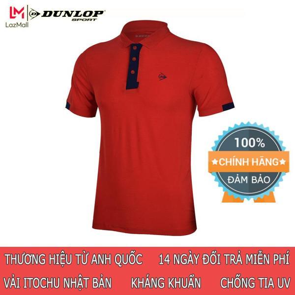 Áo thể thao nam Dunlop - DABAS9089-1C Polo thun nam phù hợp chơi cầu lông tennis mặc hàng ngày