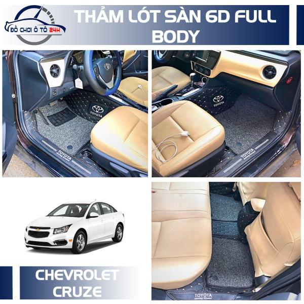 Thảm lót sàn 6D Full body tràn viền bậc cửa Chevrolet Cruze