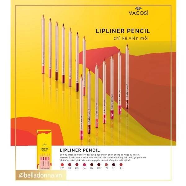 [Mẫu Mới 2019] Chì Kẻ Viền Môi Vacosi Lipliner Pencil giá rẻ