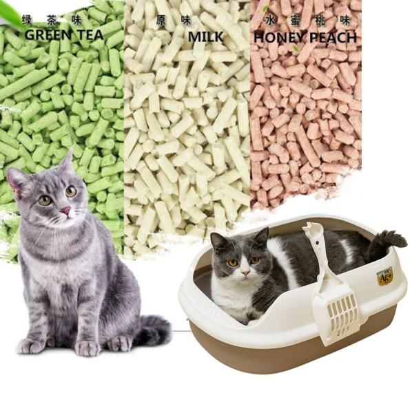 Cát đậu phụ Tofu Cát vệ sinh cho mèo làm từ bã đậu nành Hữu cơ hòa tan trong bồn cầu và mèo ăn không sao