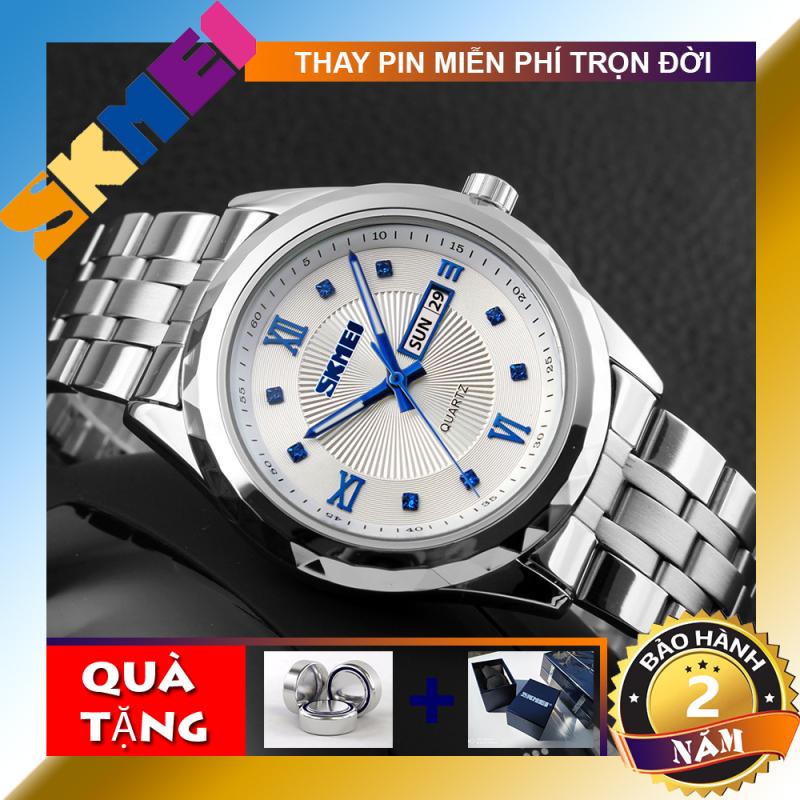 [BH 2 NĂM] Đồng hồ nam dây thép SKMEI 9100 TREND 2020 (TẶNG HỘP VÀ PIN)