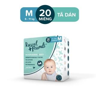 [ĐỘC QUYỀN TẠI LAZADA] - Tã Dán Rascal & Friends cho bé 6kg - 11kg - Size M 20 miếng thumbnail