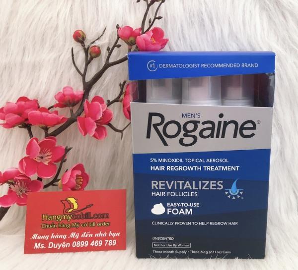 (có bill nhập)Mọc tóc nam Mens Rogaine Hair Regrowth Treatment Foam 60ml cao cấp