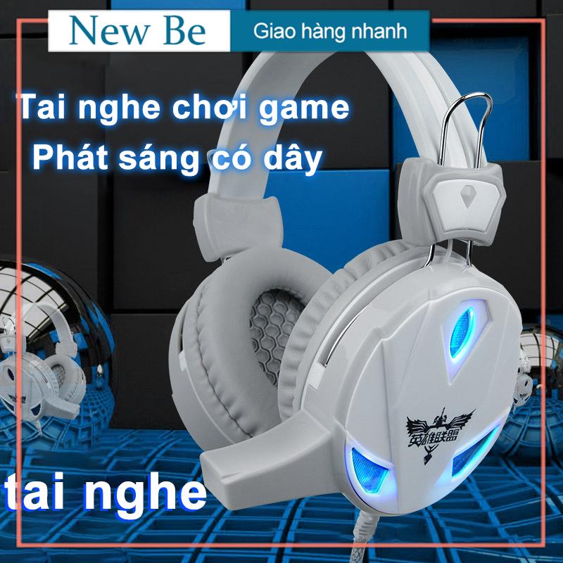【New Be】Tai nghe H7 chụp tai chuyên Game có mic thoại Led [ dùng cho điện và PC ]