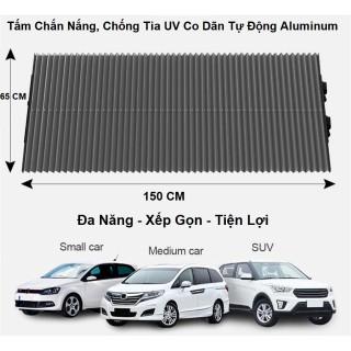 Mành Che Nắng - Không Hấp Nhiệt - Chống Tia UV - Co Dãn Tự Động - Dùng Cho Các Dòng Xe Hơi - Kích Thước 150x65cm thumbnail