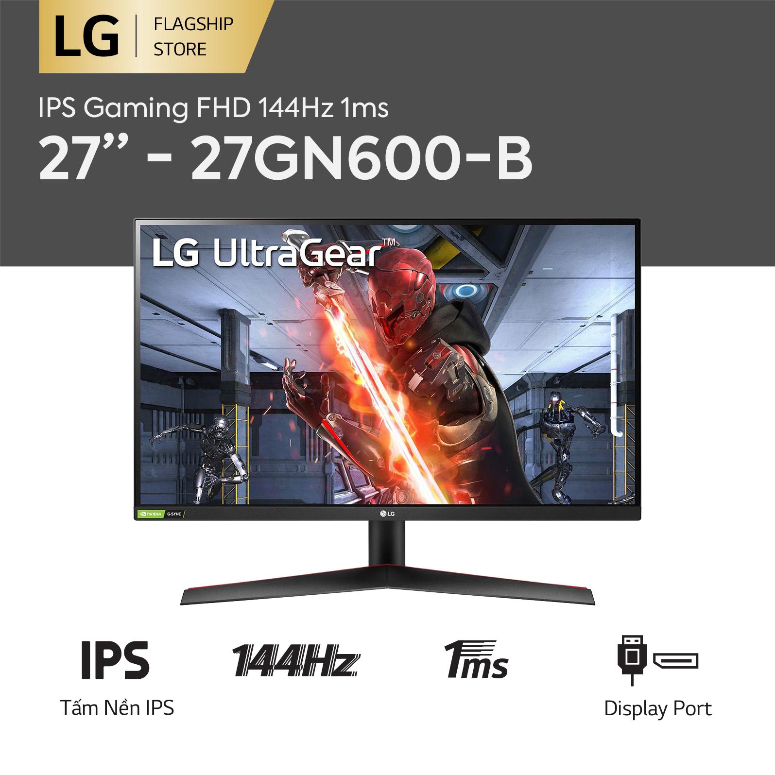 [TRẢ GÓP 0%] Màn hình máy tính LG IPS FHD (1920 X 1080) 144Hz 1ms 27 inches l 27GN600-B l HÀNG CHÍNH HÃNG