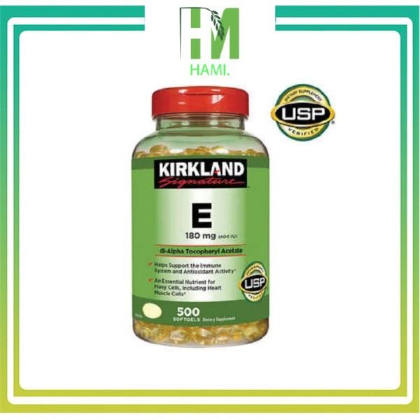 Vitamin E 400 IU 500 Viên Kirkland Của Mỹ, Date 2024