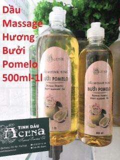 (1000ml) Dầu Massage Body Hương Bưởi Pomelo chuyên dùng Spa, Trơn Tay, Mùi Thơm Dịu ACENA thumbnail